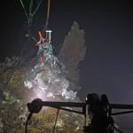 camera illuminating seafloor