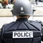 Image of police officer from back