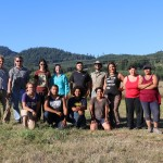 Group of students at field school on Grand Ronde reservation