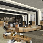 architectural rendering of the new cafe