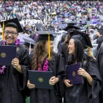 New graduates celebrate during the 141st commencement ceremony in 2016