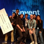 The UW Sounding Board team (left to right: Hao Fang, Hao Cheng, Ari Holtzman, Mari Ostendorf, Maarten Sap, Elizabeth Clark, Yejin Choi) wins Amazon's first Alexa Prize.