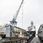 ship in shipyard