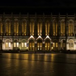 Suzzallo Library at night