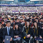 Graduates and their families and friends attend the UW's 142nd Annual Commencement Ceremony at the Husky Stadium.