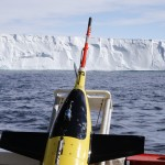 yellow instrument with ice in background