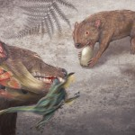 Illustration of an extinct marsupial.