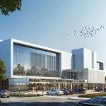 Digital rendering of new building