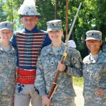 Soldier in traditional ceremonial uniform