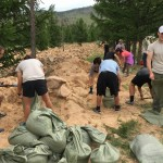 Reestablishing an archeological site aka filling sand bags and carrying them 200 meters!