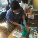 Another cadet assisting as a dental hygienist at the HSSE