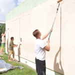 Cadets painting the Good Shepard Primary School.