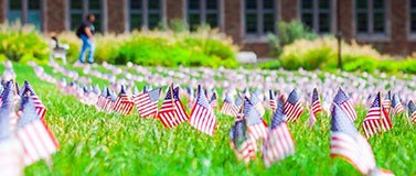 memorial day hub lawn flags