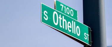 street sign of S. Othello St.