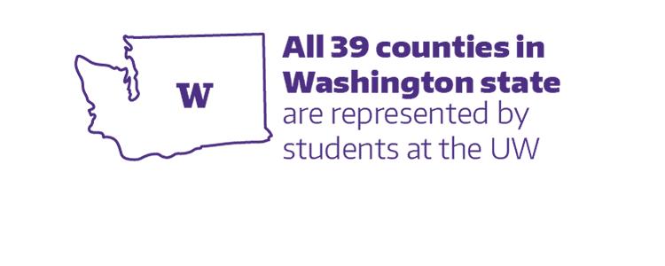 皇冠hg0086手机版的学生代表了华盛顿州所有39个县.