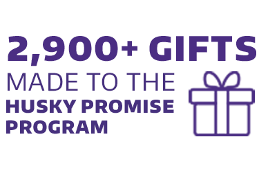 2,960 gifts made to the Husky Promise program