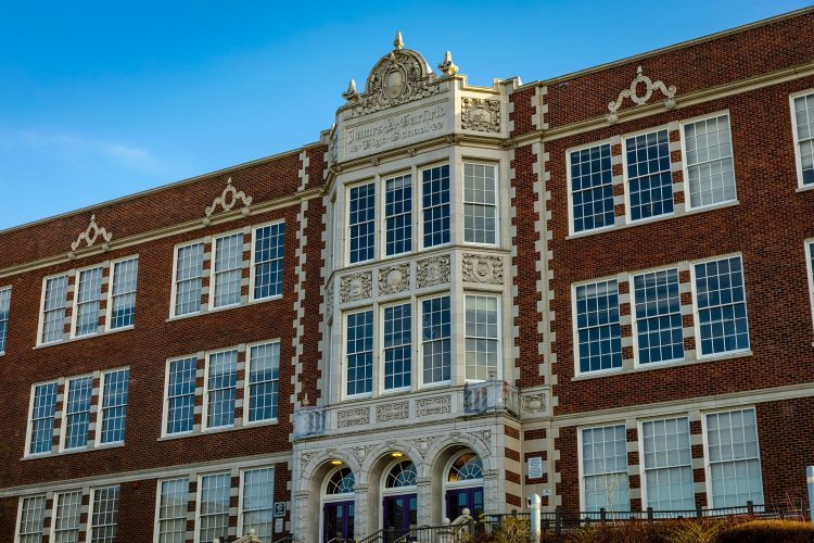 Exterior of Garfield High School