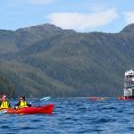 Kayakers in Alaska