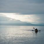 Kayaker in Alaska
