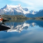 Lake Pehoé is located in Torres del Paine National Park, in the Magallanes Region of southern Chile