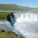 The Goðafoss (Icelandic: waterfall of the gods or waterfall of the goði) is one of the most spectacular waterfalls in Iceland.