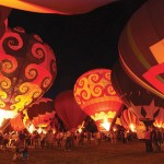 Hot air balloon evening glow
