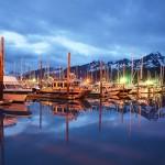 Seward Marina at Resurrection Bay in Alaska
