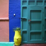 Colorful door in Morocco