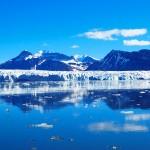 Kongsbreen glacier, on the island of Spitsbergen in Svalbard, Norway.