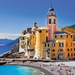 Camogli is a fishing village and tourist resort located on the west side of the peninsula of Portofino