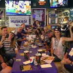Happy Husky fans at a Los Angeles Viewing party