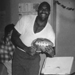 Student with football from UW 1994 Yearbook