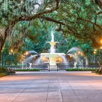 Forsyth Park fountain, Savannah, Georgia
