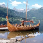 Recreated Viking boat, Norway