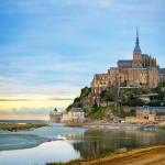 Mont-Saint-Michel, rocky islet and famous sanctuary off the coast of Normandy, France
