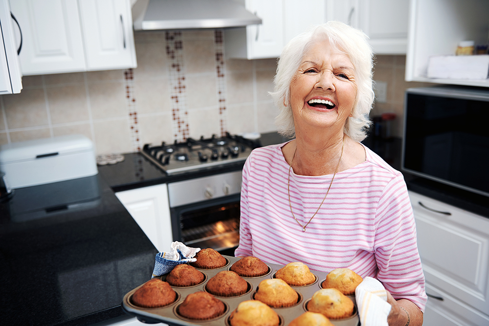 Even if Mom suffers from dementia, keeping her cooking for as long as possible is great for her mental wellbeing.