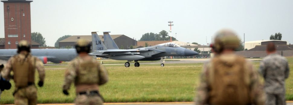 U.S. Air Force Commandos Practice Refueling, Rearming F-15s