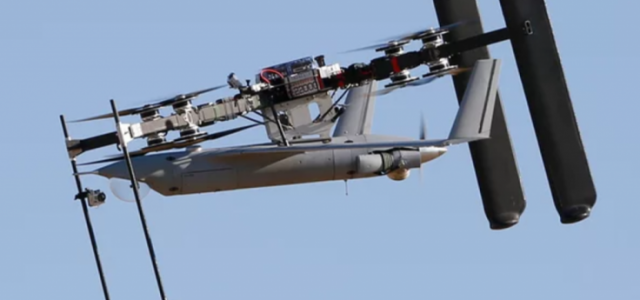 Airborne Drone Carrier Launches Another Drone