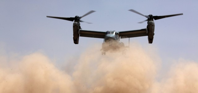 The V-22 Can't Spend Even One Minute in a Dust Cloud