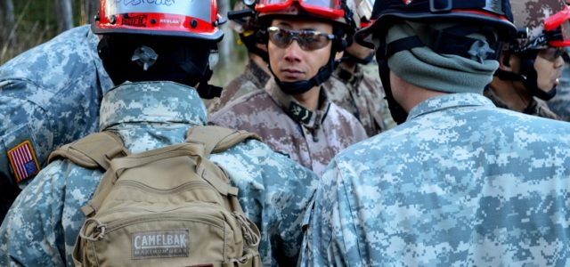 American and Chinese Troops Work Together in Oregon