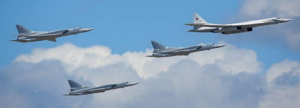 Russian Warplanes Gathered Over Moscow to Honor World War II Dead
