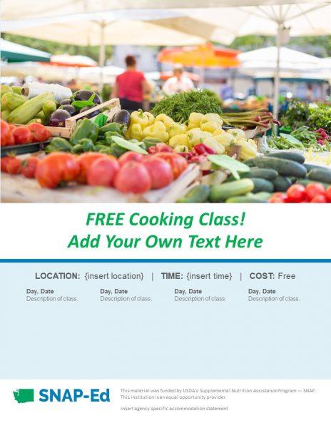 A screen shot of Farmers Market Flyer 2.