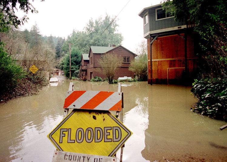 Russian River California El Nino Flooding