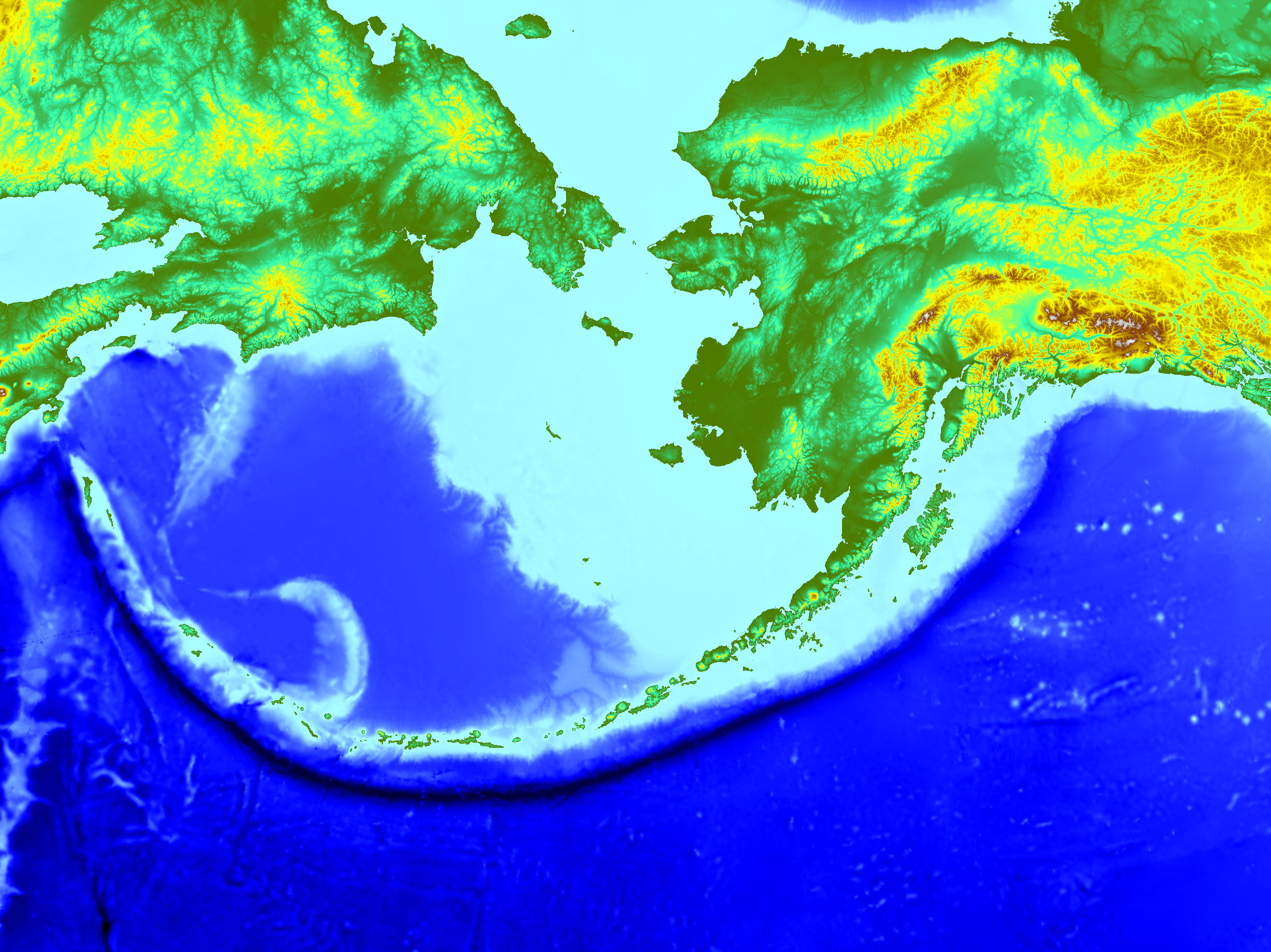 Map of the Aleutian Trench and Islands. Retrieved from Wikipedia Page on Aleutian Trench.