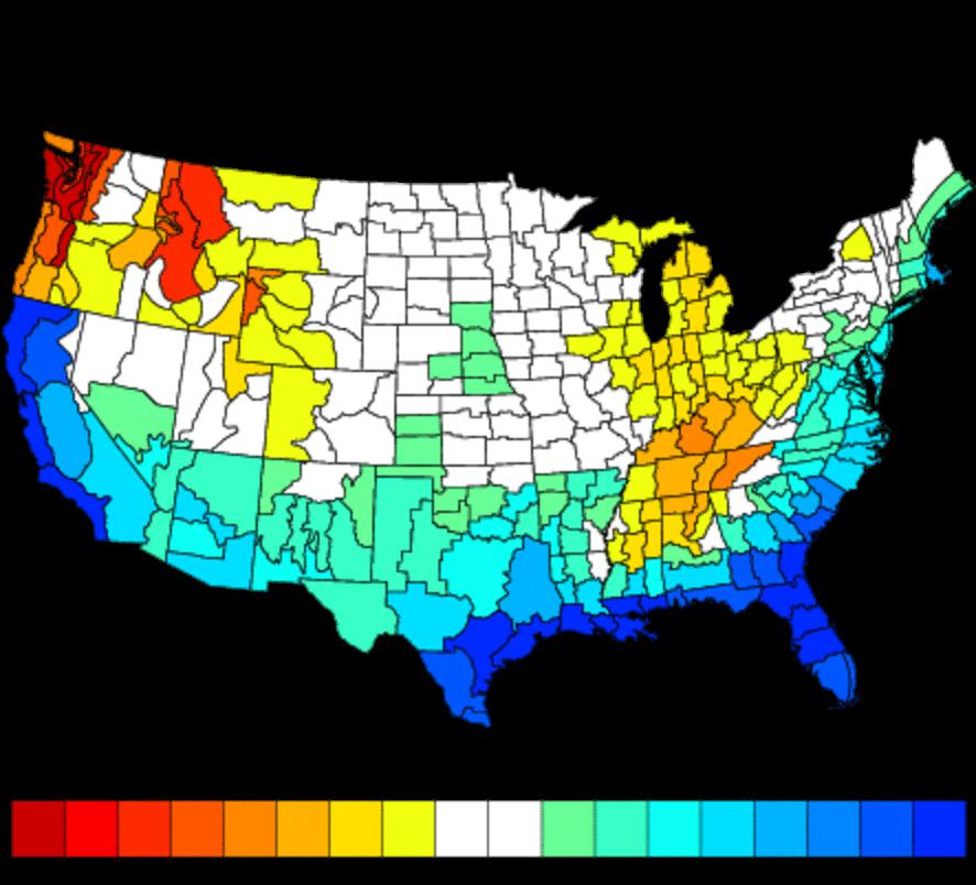 Precipitation AnomaliesCredit: NWS