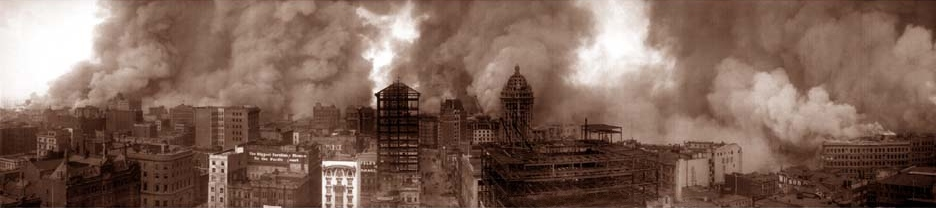San Francisco on fire in 1906.Credit: Library of Congress.