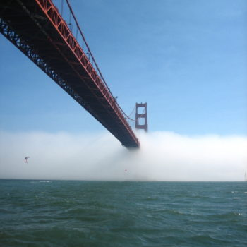 Advection Fog Engulfing the Golden Gate Bridge