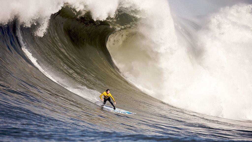 The Mavericks Surf Contenst on February 13, 2010