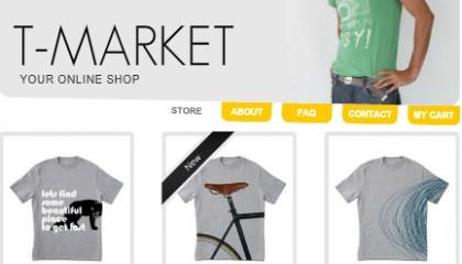 Ejemplo de tienda online en Facebook creada con Wix