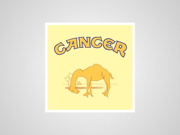 Logo de Camel dice Cancer en lugar de Camel